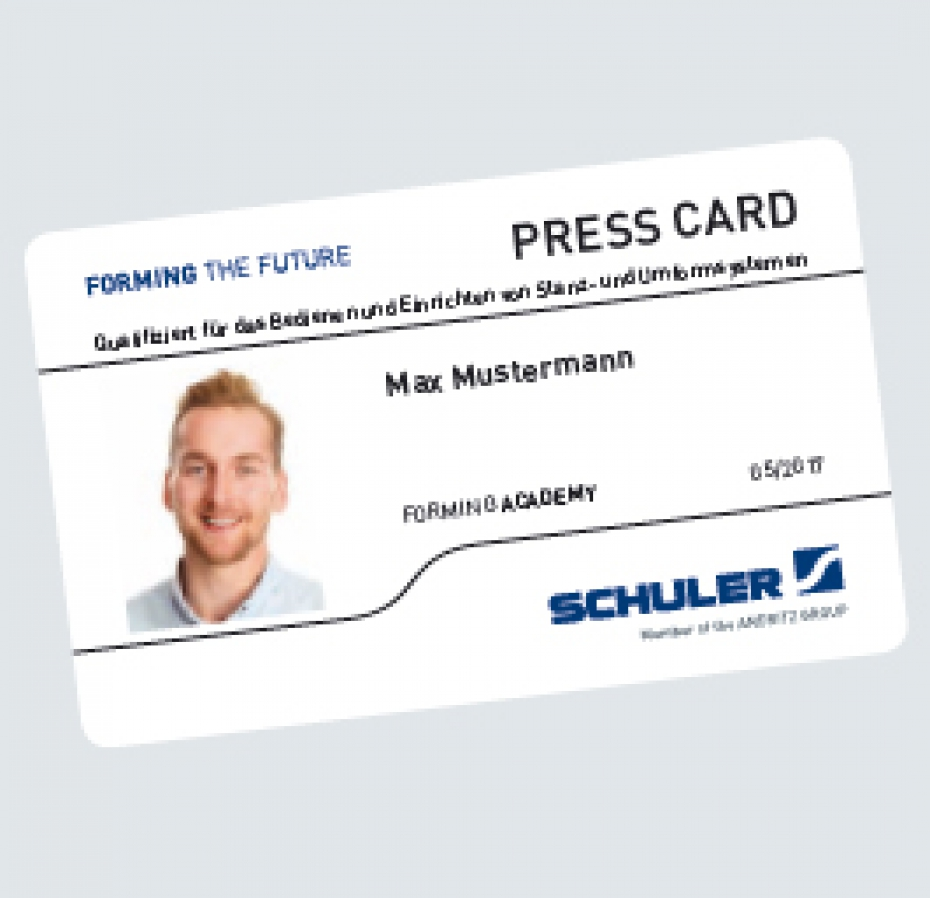 Die neue Schuler Press Card.